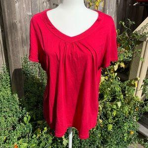 Pink short sleeve top XL